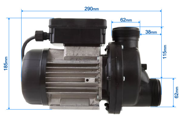 Whirlpool Pump Technical Dimensions - Astra Doge 800