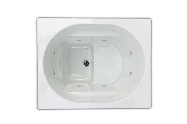 Whirlpool baths whirlpool bathtubs deep soaking baths for Japanese whirlpool tub
