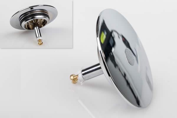 Replacement Chrome Plug For Koller Whirlpool Bath Pop Up Waste U0026 Overflow    Standard Adjustment